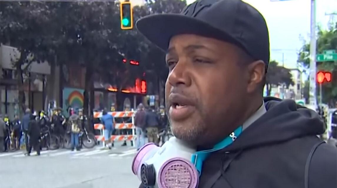 Journalist Omari Salisbury speaks about The Chop in Seattle