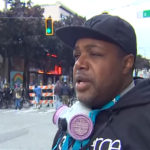 Journalist Omari Salisbury speaks about The Chop in Seattle